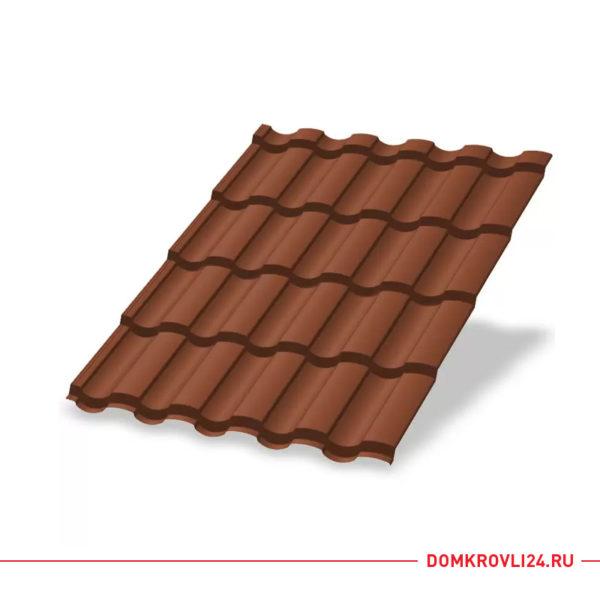 Металлочерепица Монтекристо Norman цвет коричневая медь