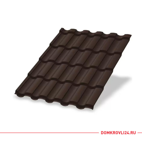 Металлочерепица Монтекристо Purman цвет коричневый