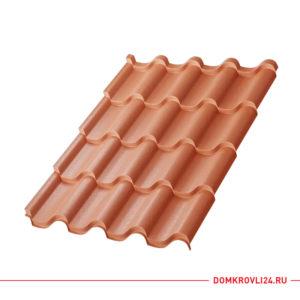 Металлочерепица Монтерроса Viking E цвет коричневая медь