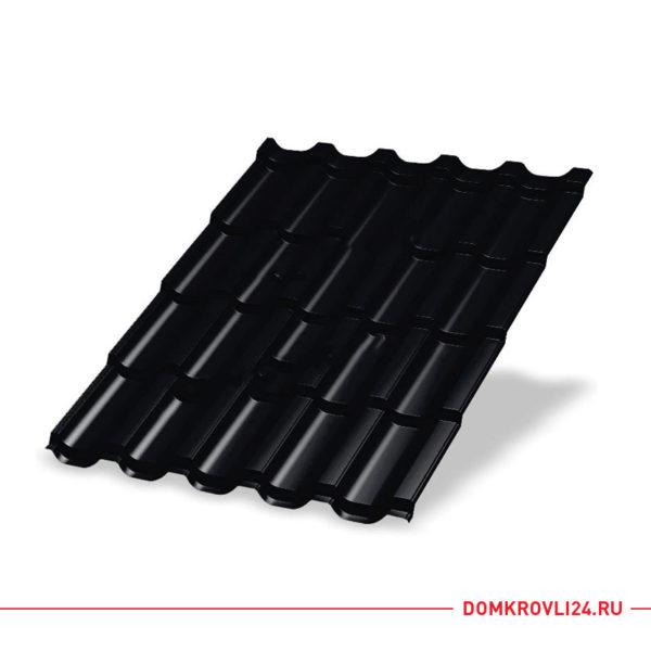 Металлочерепица Трамонтана Viking E цвет черный