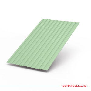 Профлист С-8 бледно зеленого цвета