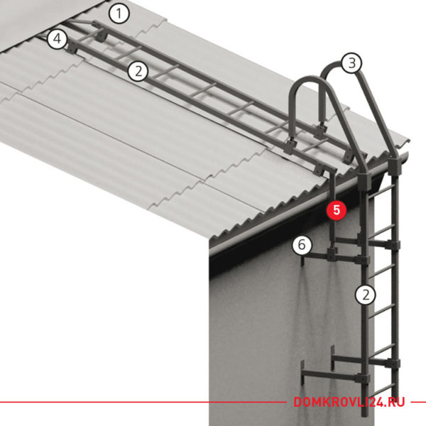 Кронштейн подвесной для лестницы черного цвета