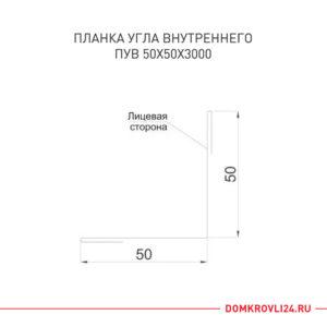 Размеры и характеристика планки угла внутренней 50х50
