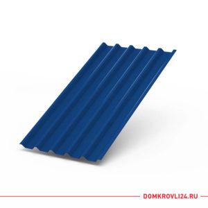 Профлист С-44 синего цвета