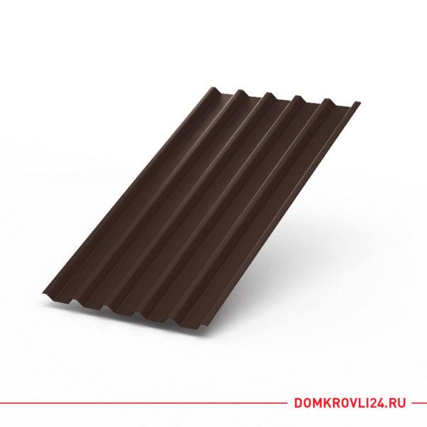 Профлист С-44 коричневого цвета