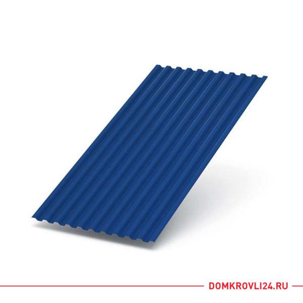 Профлист С-21 синего цвета