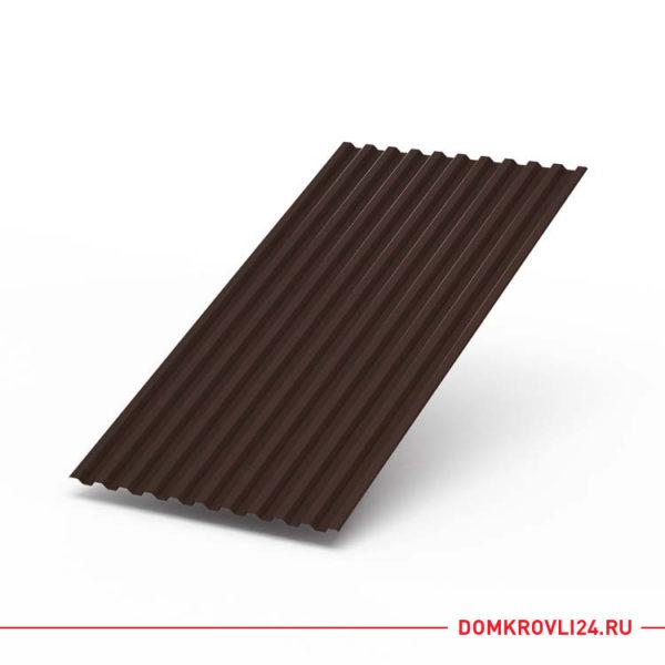 Профлист С-21 коричневого цвета
