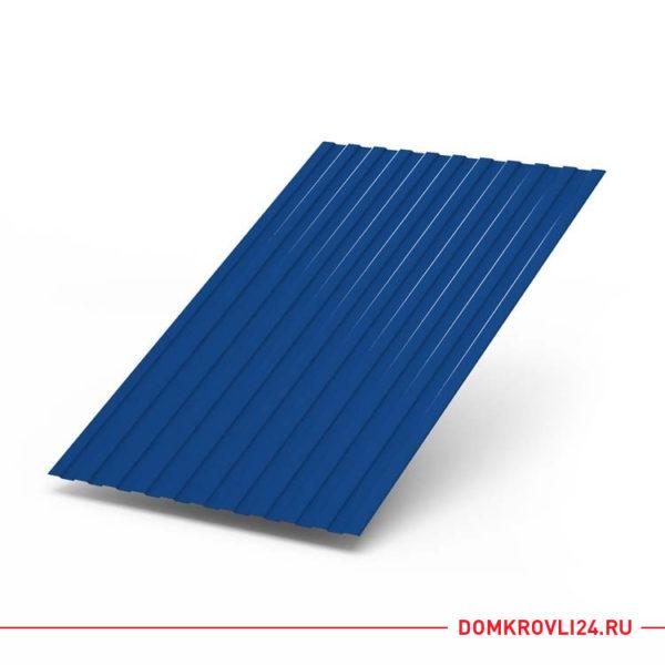 Профлист С-8 темно-синего цвета