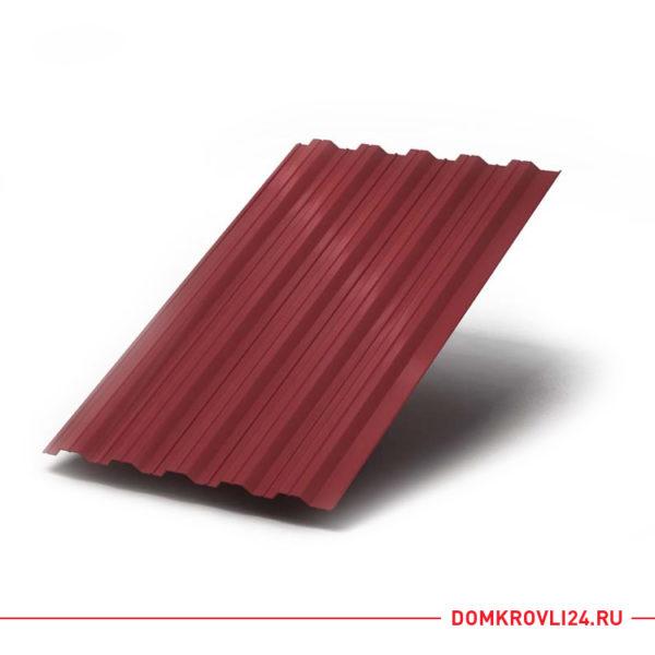 Профлист НС-35 красного цвета
