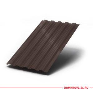 Профлист НС-35 коричневого цвета