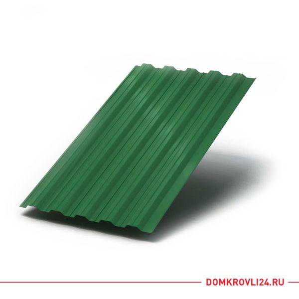 Профлист НС-35 зеленого цвета