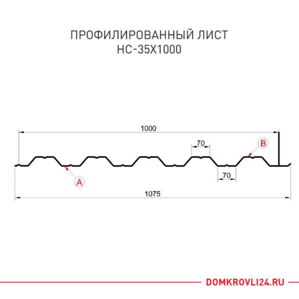 Технические характеристики и размеры профлиста НС-35