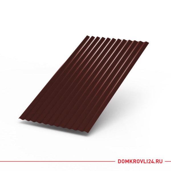Профлист МП-18 коричневого цвета