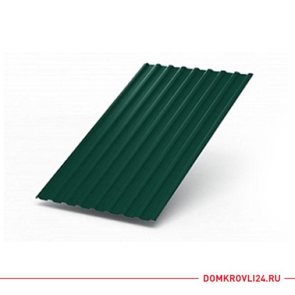 Профлист МП-20 зеленого цвета