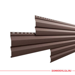 Металлический сайдинг корабельная доска коричневого цвета