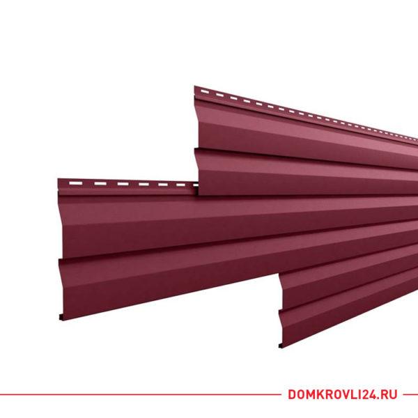 Металлический сайдинг корабельная доска бордового цвета