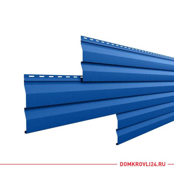 Металлический сайдинг корабельная доска синего цвета