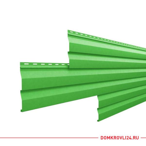Металлический сайдинг корабельная доска зеленого цвета