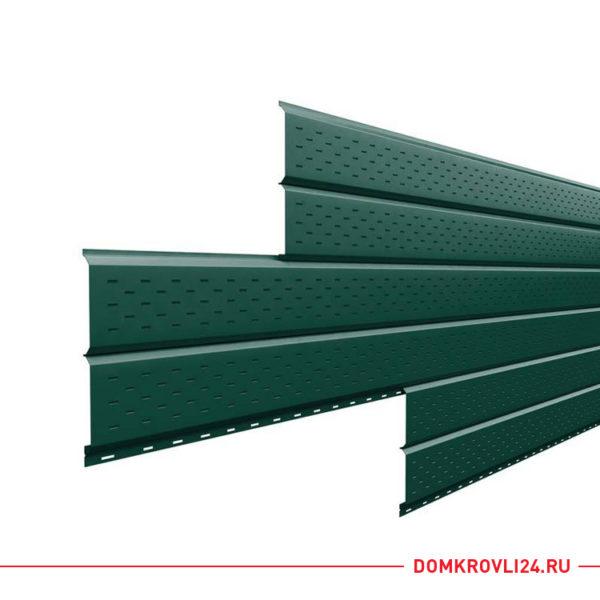 Софит перфорированный L-брус зеленого цвета