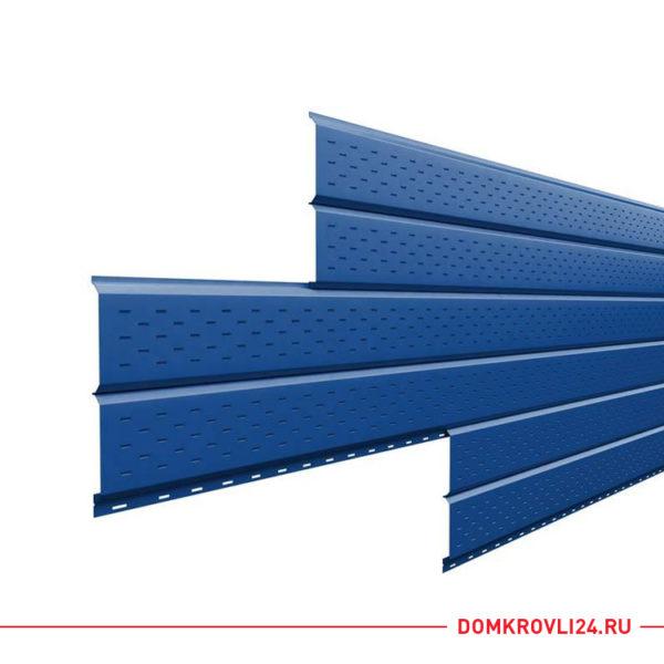 Софит L-брус (15х240) перфорированный Полиэстер (0,45) цвет синий