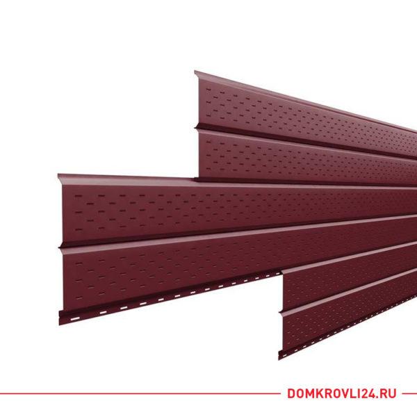 Софит L-брус (15х240) перфорированный Purman красного цвета