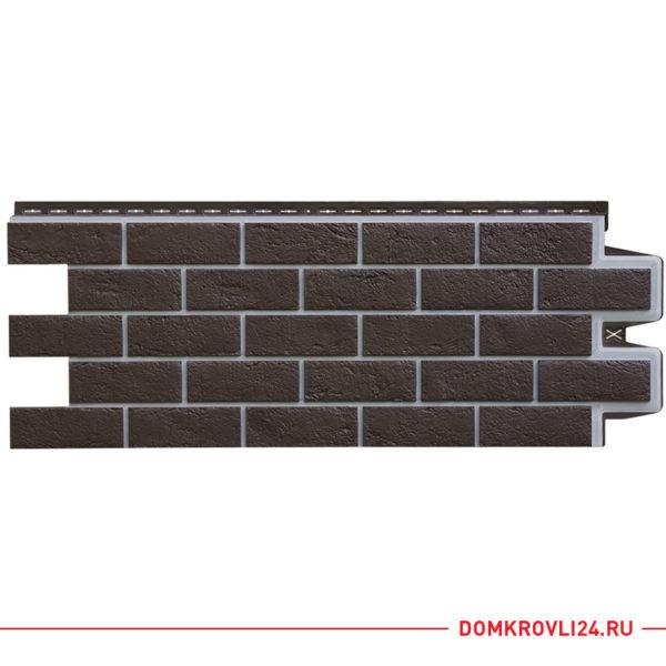 Фасадная панель Гранд Лайн цвет шоколадный