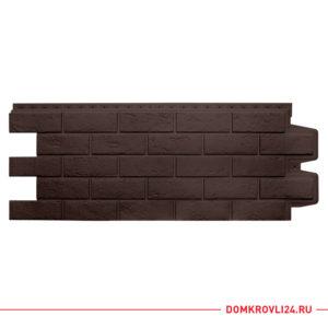 Фасадная панель Гранд Лайн коричневого цвета