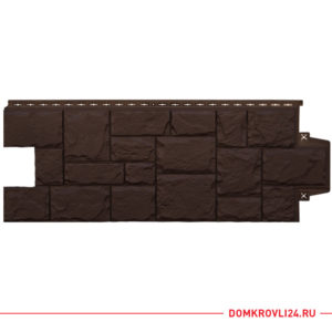 Фасадная панель Гранд Лайн крупный камень, цвет коричневый