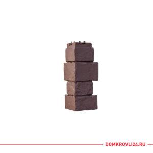 Угол для фасадной панели Гранд Лайн цвет коричневый