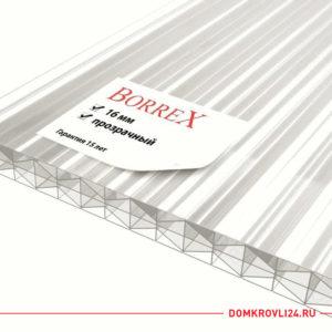 Сотовый поликарбонат Borrex прозрачный